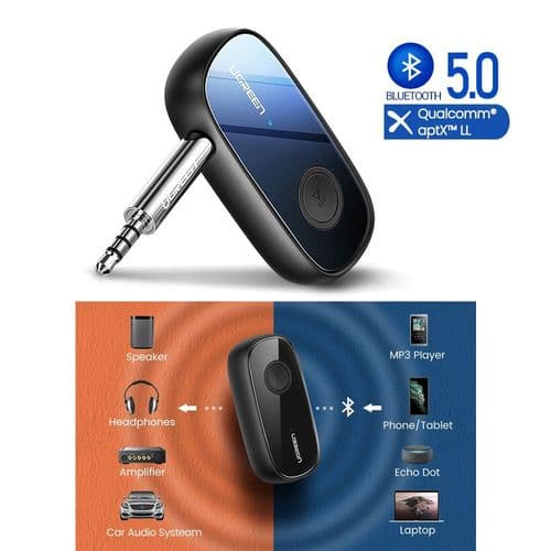 Récepteur Bluetooth 5.0 Aptx Ll 3,5 Mm Mini-Jack Audio Adaptateur Dual Connect
